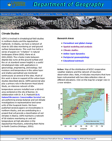 Permafrost Group Department of Geography Website Design Review