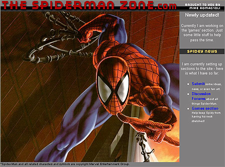 The Spider-Man Zone Website Design Review